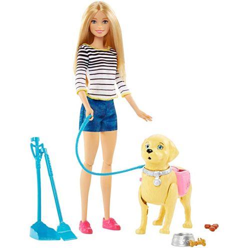Barbie DWJ68 - Hundespaziergang Puppen Spielset