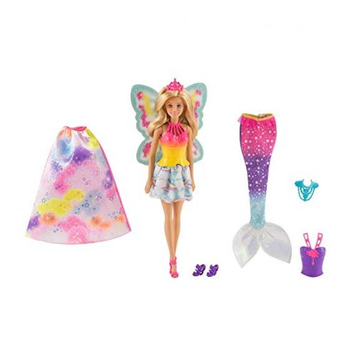 Barbie FJD08 - Dreamtopia 3-in-1 Fantasie Puppe