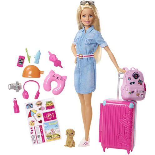 Barbie FWV25 - Reise Puppe mit blonden Haaren