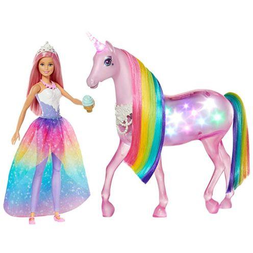 Barbie FXT26 - Dreamtopia Magisches Zauberlicht Einhorn