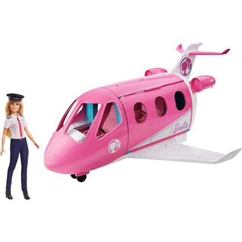Barbie GJB33 - Reise Traumflugzeug Flugzeug mit Puppe und Zubehör