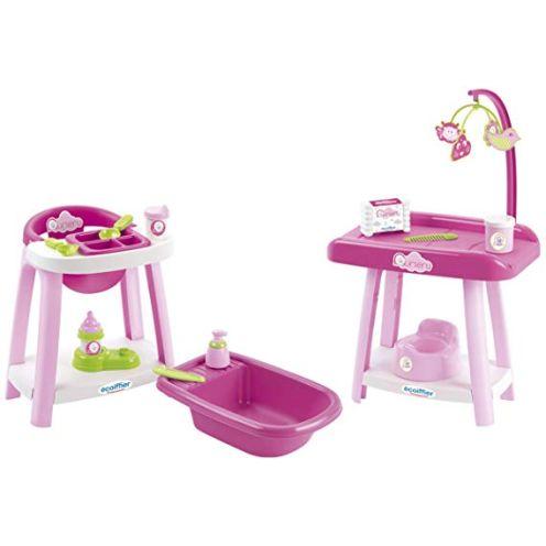 Ecoiffier 2878 Puppenpflege-Set, Rosa
