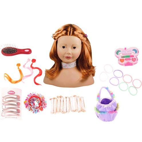 Götz 1192054 Haarwerk mit roten Haaren und braunen Augen