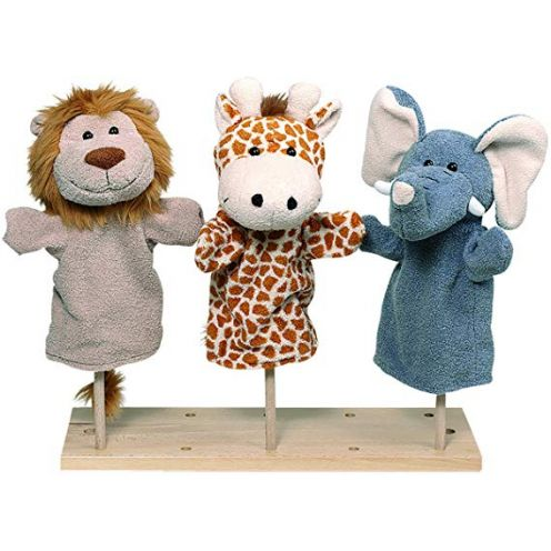 Goki Handpuppen Wilde Tiere 3er Set