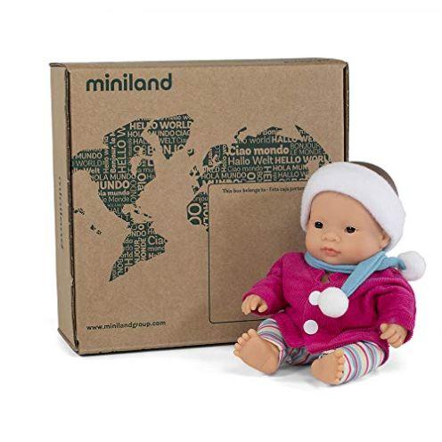 Miniland Puppe + Zubehör Geschenkset