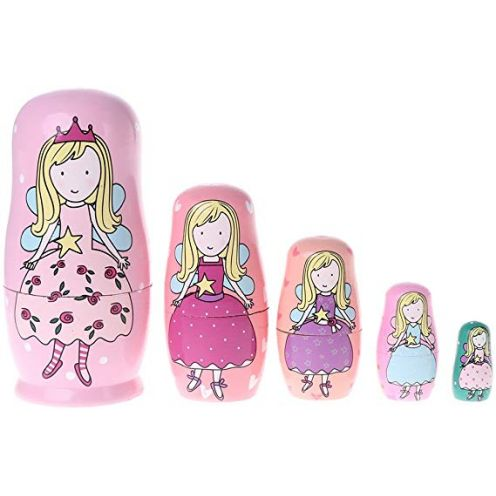 5PCS Engel Prinzessin Russian Nesting Dolls