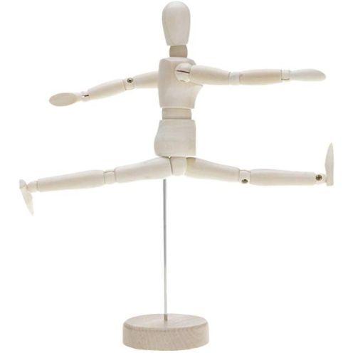 HuntGold Holz Bewegliche Arme und Beine Menschliche Figur