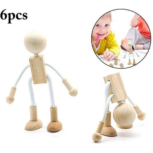Joyibay 6 Stück Holz Figur