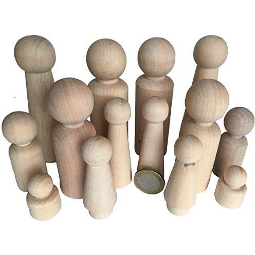 MEIERLE & Söhne 14 Familie Männchen Figuren Holzfiguren