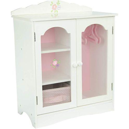 Olivias World 18 Zoll Babypuppen-Möbel Holz-Kleiderschrank TD-0210A