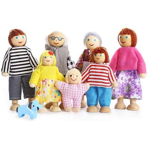 Playtee 7-köpfige Puppenfamilie