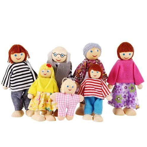 Profun 7-köpfige Puppenfamilie