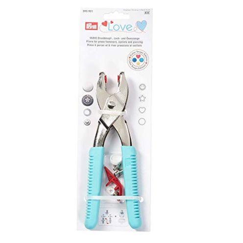 Prym 390901 Prym Love Vario-Zange mit Loch-/Color Snaps Werkzeug