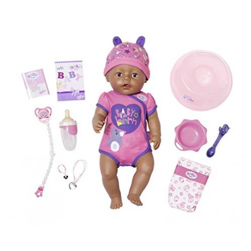 "Zapf Creation 824382"" Baby Born Soft Touch Girl Brown Eyes Puppe"